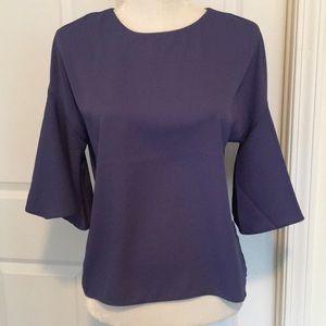 Catherine Malandrino bell sleeve violet blouse XS